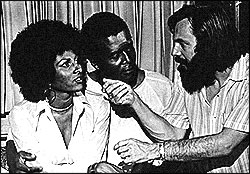 Pam Grier with director Jack Hill.